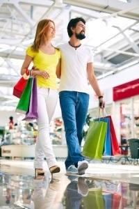 Consumers in trade center