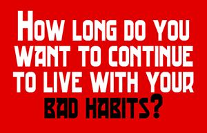 slechte gewoontes