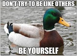 wees jezelf