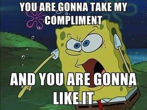 hij geeft complimentjes afbeelding