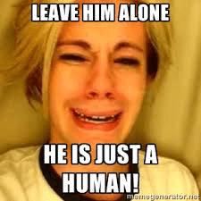 hij is gewoon een mens
