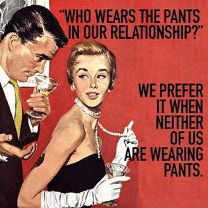 Broek dragen in relatie jij of hem - geen van beiden