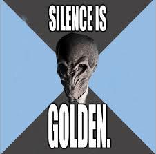 stilte is goud