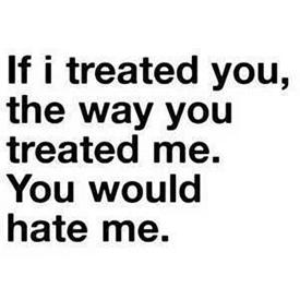 behandelt hij je slecht