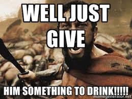 geef hem een drankje