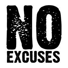 geen excuusjes