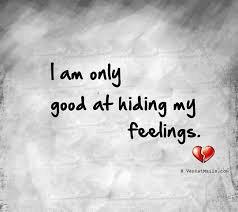 gevoelens verbergen
