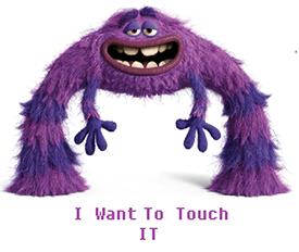 ik wil hem aanraken