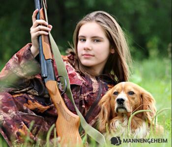 jagende vrouw