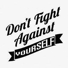 vecht er niet tegen