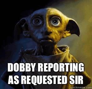 Dobby Harry Potter huisslaafje relatieproblemen vrouw opruimen