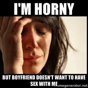 Hij heeft geen zin in seks met mij