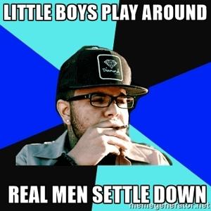 Kleine jongens versus echte mannen