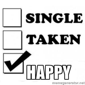Je kan gelukkig zijn als je single bent