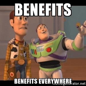 Alleen maar voordelen