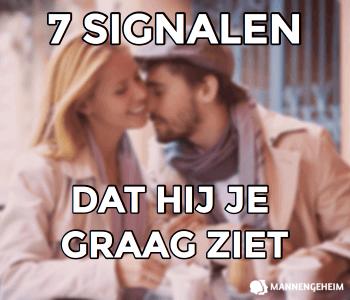 7 signalen dat hij je graag ziet
