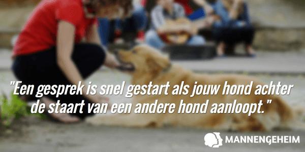 Je start makkelijk een gesprek met hondenbezitters