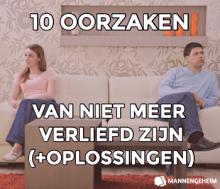 10 oorzaken van niet meer verliefd zijn