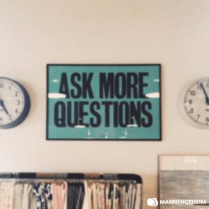 Stel geen saaie vragen