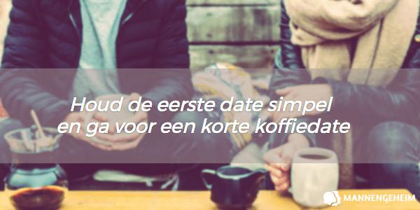 Hou de eerste date simpel en ga voor een koffiedate