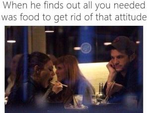 relatie eten ruzie meme