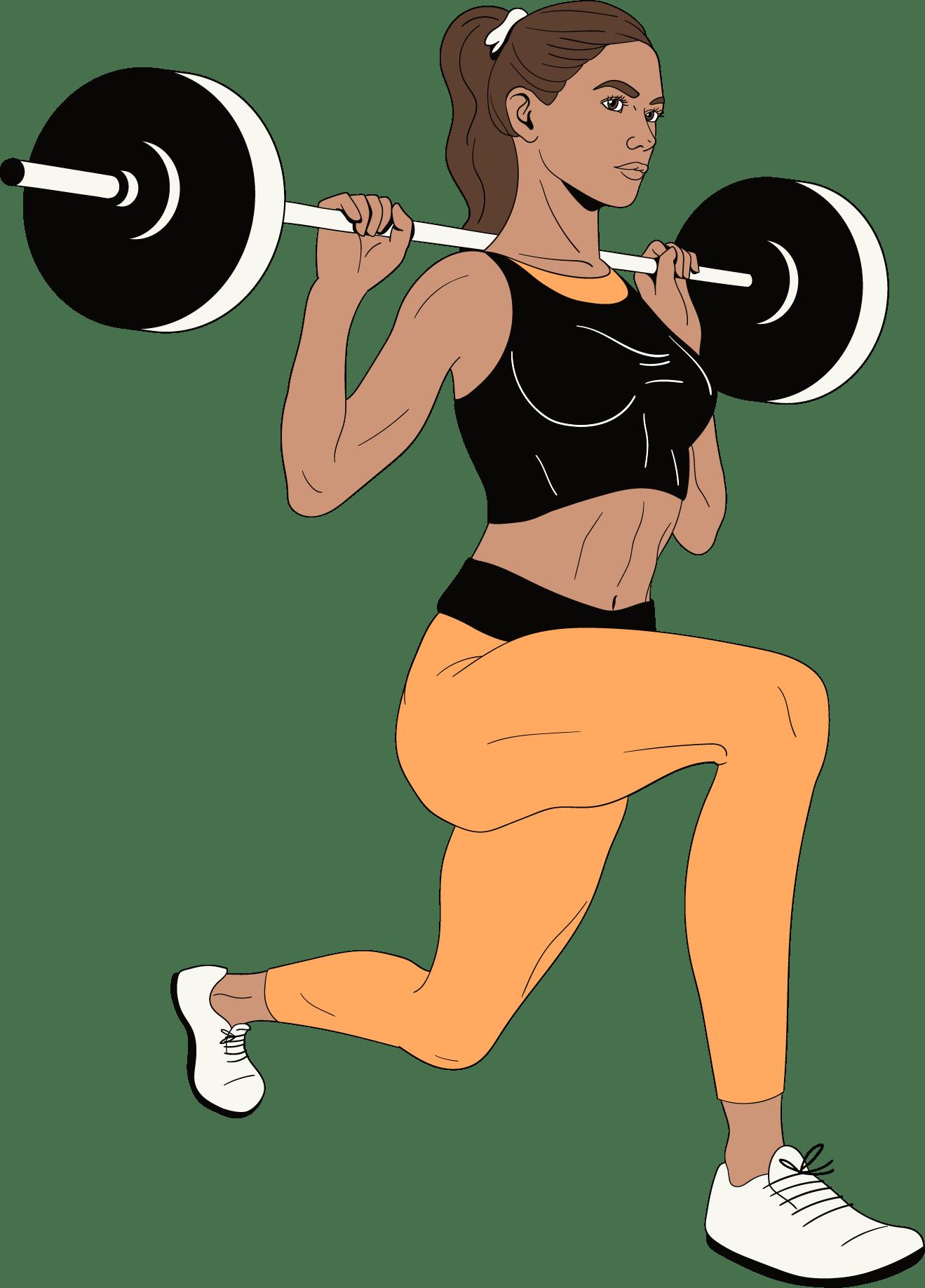 Een vrouw gaat sporten om haar ex te vergeten