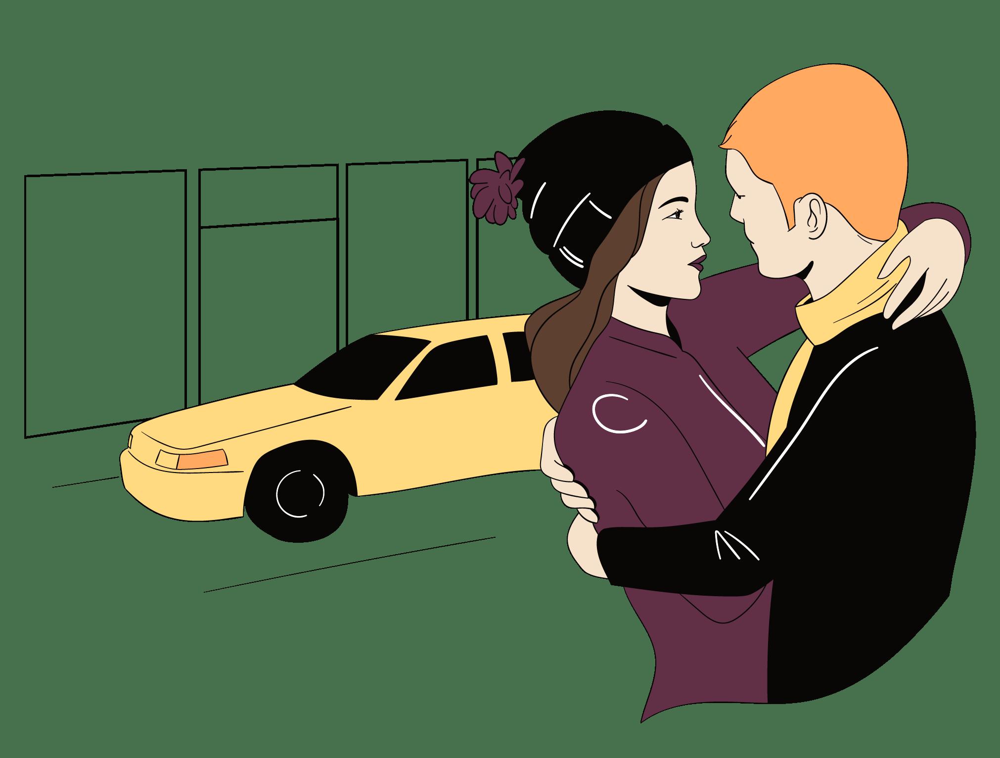 Man en vrouw zijn verliefd