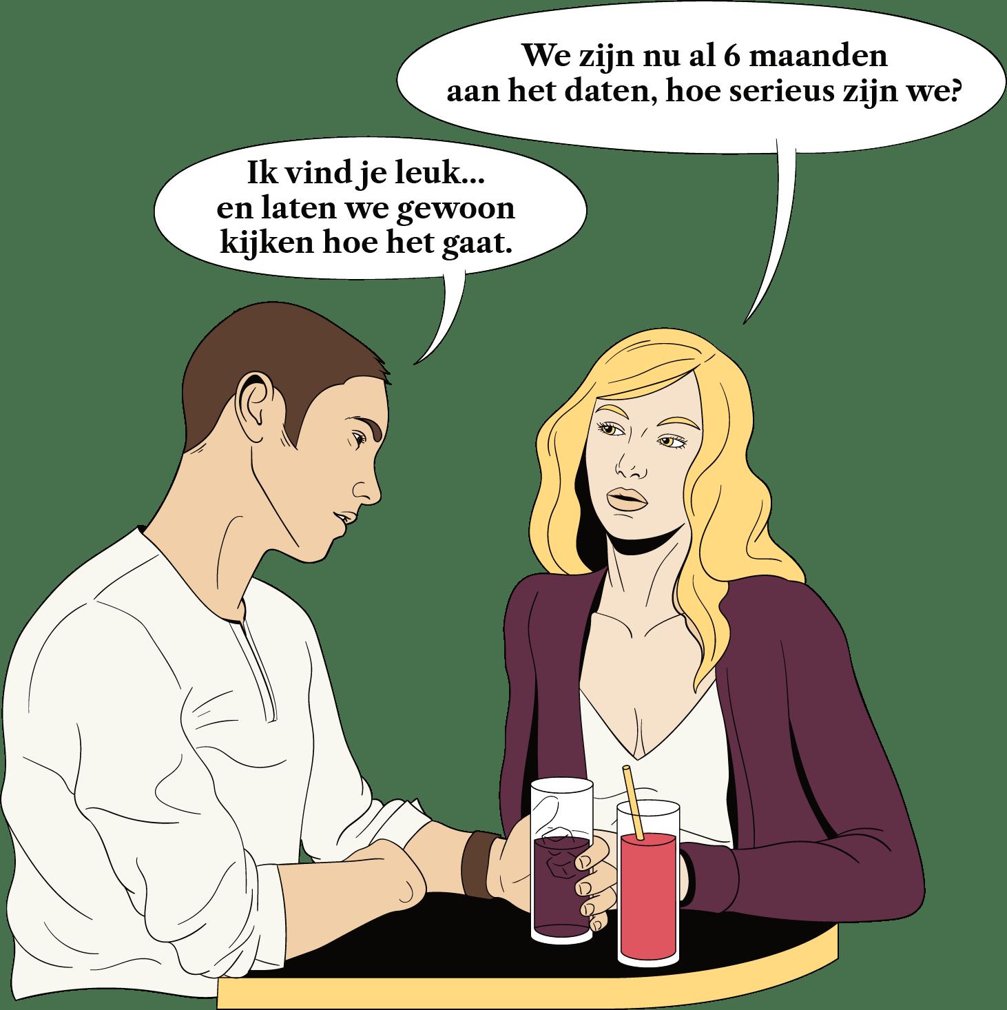 Een man wil het langzamer aan doen dan een vrouw en stuurt daarom tegenstrijdige signalen naar haar