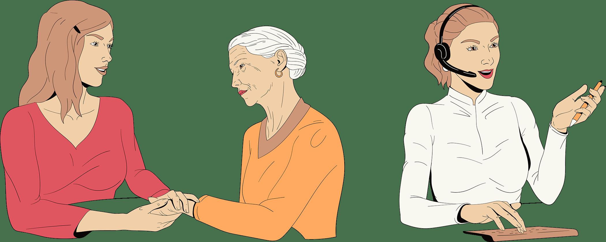 Een vrouw investeert in haarzelf. Haalt contacten met familie aan of focust zich op haar werk.