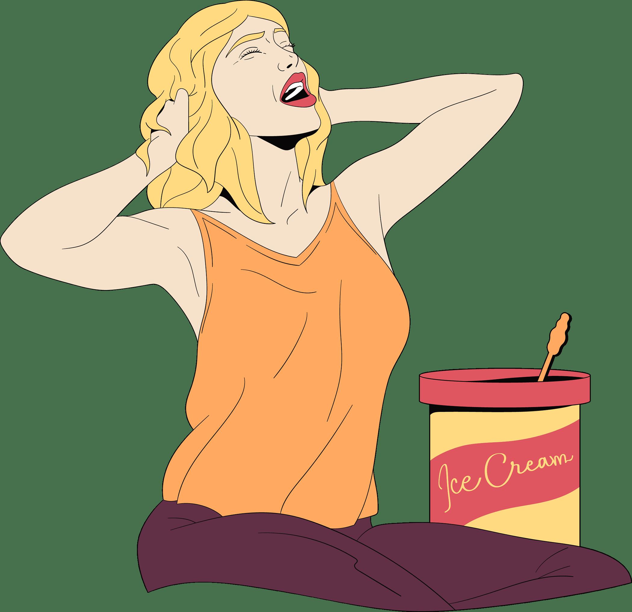 Een vrouw trekt (figuurlijk) de haren uit haar hoofd omdat ze liefdesverdriet heeft en duidelijkheid wilt