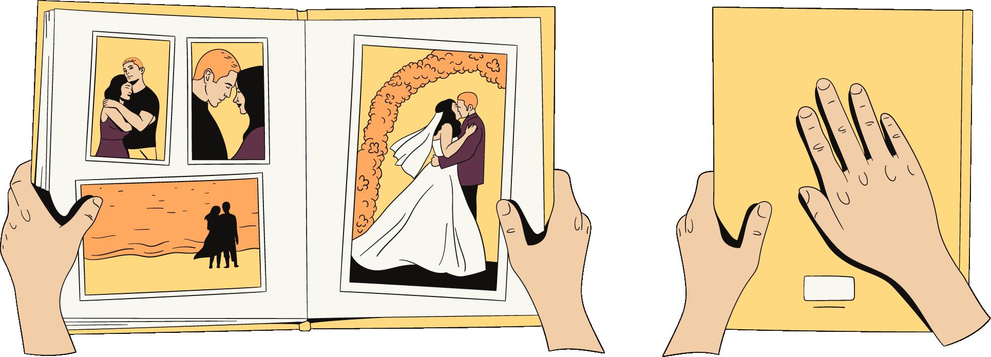 Het huwelijk is ten einde. Een vrouw doet het boek ervan dicht.